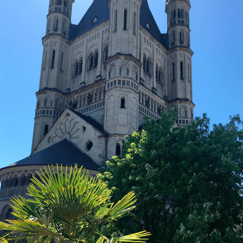 Bäko - Rooftop view - Benedictine monastery Groß St. Martin