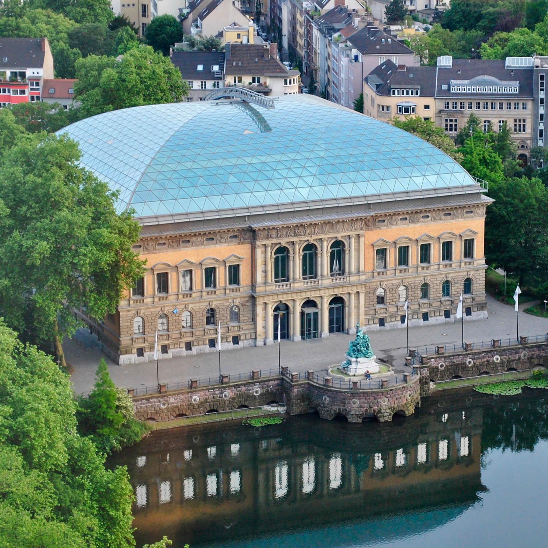 A bird's eye view of Museum K21 Dusseldorf