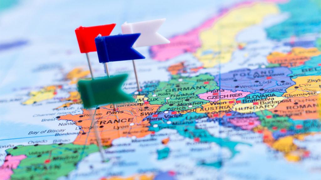 Roadshow mit der Europa-Karte