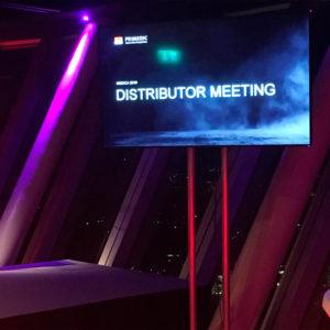 Medica 2019 - Product Launch - Informationsdisplay im Rheinturm